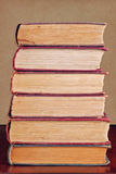 Stack of Books. Six vintage books stacked on top of each other stock photos