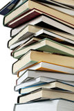 Stack of books. Isolated on white background Royalty Free Stock Images