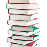 Stack of books. On white background stock photos