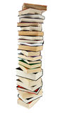 Stack of books. Large stack of books isoltaed on the white Stock Photos