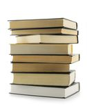 Stack of books. Stack of the books isolated over a white background stock images
