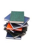 Stack of books. Isolated on white background royalty free stock photography