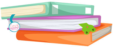 Stack of books. Illustration of isolated stack of books on white royalty free illustration