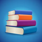 Stack of Books. Back to school books background vector illustration