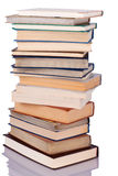 Stack of books. Composition of books stack isolated on white background royalty free stock photography
