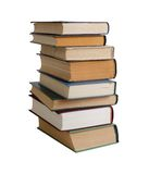 Stack of books. On white Stock Photo