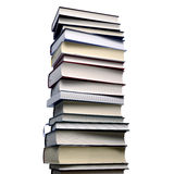 Stack of books. High stack of isolated books Stock Photos