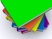 Stack of books. A 3d messy stack of books rendering Royalty Free Stock Photo