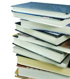 Stack of books. On white background Stock Images