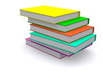 Stack of books. Stack of nice 3d books, isolated Stock Photo
