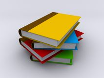 A stack of books. Image of a pile of different coloured books Royalty Free Stock Photos