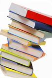 Stack of books. Isolated on white background Stock Photo