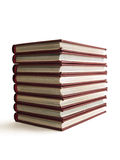 Stack of books. Isolated on white background stock photos