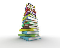 Stack of books. Digitally generated image Stock Photo