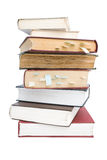 Stack of books. With bookmarks Stock Photos