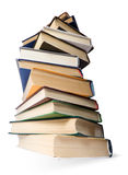 Stack of books. On white Royalty Free Stock Images