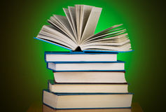 Stack of books against  background Royalty Free Stock Images