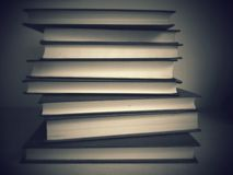 Stack of books B&W Royalty Free Stock Photography