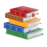 Stack of Books. Back to School Concept - Stack of Colored Books with Bookmarks,  on white background. Easy to change color Royalty Free Stock Image