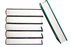 Stack of books background isolated stock photo