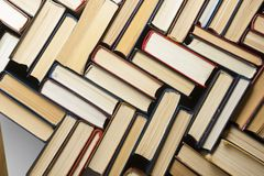 Stack of books background. many books piles. Stack of books background. many books piles royalty free stock photos