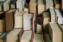 Stack of books background. many books piles. stock image