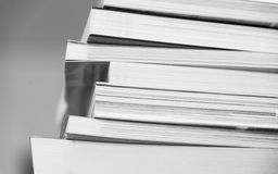 Stack of books black and white Royalty Free Stock Photos