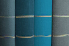 Stack of books, book spines in row. Stack of books - book spines in row Stock Photos