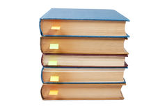Stack of books with bookmarks Stock Image