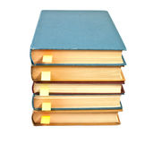 Stack of books with bookmarks Stock Photo