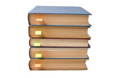Stack of books with bookmarks Royalty Free Stock Photos
