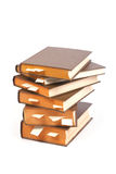 Stack of books with bookmarks Royalty Free Stock Photo