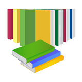Stack of books and books standing in a row Stock Images