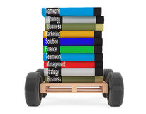 Stack of Books with car wheels Stock Photos