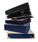 Stack of books or cataloques Stock Images