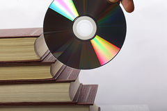 Stack of books and CD-ROM Royalty Free Stock Image