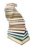 Stack of books closeup isolated on white background Stock Photography