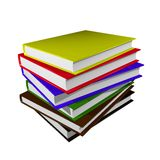 Stack of books. Stack of colorful books over white Stock Image