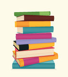 Stack of books. Stack of colorful books. Vector illustration Royalty Free Stock Photos