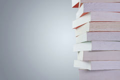 Stack of books with copy space Stock Images
