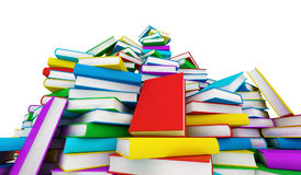 Stack of books. 3d render Royalty Free Stock Images