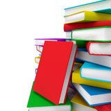 Stack of books. 3d render Royalty Free Stock Photos