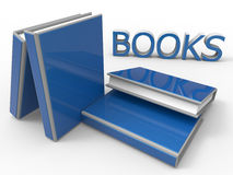 Stack of books. 3D render illustration of a stack of books. The composition is  on a white background with shadows Stock Photography