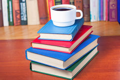 Stack of books on the desk Royalty Free Stock Photo