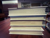 Stack Of Books On A Desk royalty free stock image
