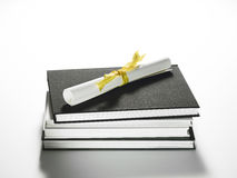 Stack of Books & Diploma Royalty Free Stock Image