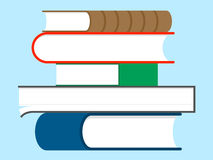 Stack of books - education Royalty Free Stock Photos