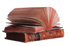 Stack of books with fanned pages Royalty Free Stock Photo