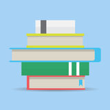 Stack of books. Flat design. Library and reading book, vector illustration Stock Photos