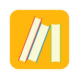 Stack of books flat icon Stock Photography
